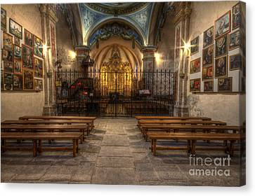 Baroque Church In Savoire France 4 Canvas Print by Clare Bambers