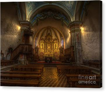 Baroque Church In Savoire France Canvas Print