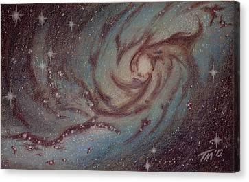 Barred Spiral Galaxy Ngc 1313 Canvas Print by Thomas Maynard