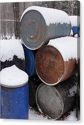 Canvas Print featuring the photograph Barrel Of Food by Tiffany Erdman