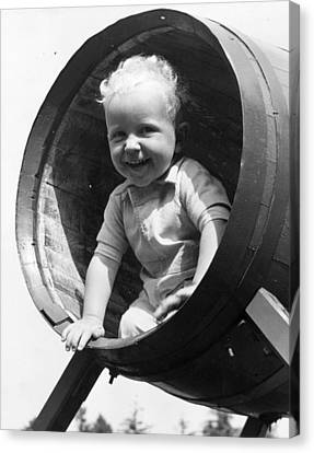 Schoolyard Canvas Print - Barrel Of Laughs by Fred Morley