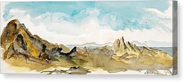 Barren Landscape Canvas Print