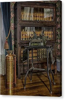 Barrister's Home Office Canvas Print by Lynn Palmer