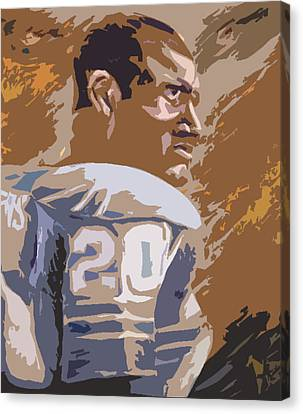 Barry Sanders Canvas Print - Barry Sanders Poster by Adam Barone