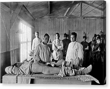 Base Hospital In World War I Canvas Print by Usa National Library Of Medicine