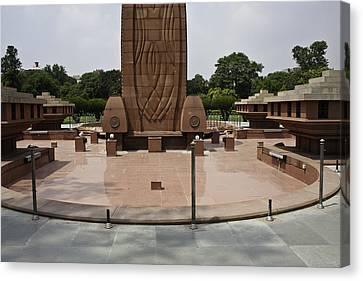 Base Of The Jallianwala Bagh Memorial In Amritsar Canvas Print by Ashish Agarwal