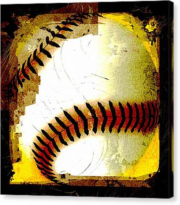 Baseball Abstract Canvas Print by David G Paul