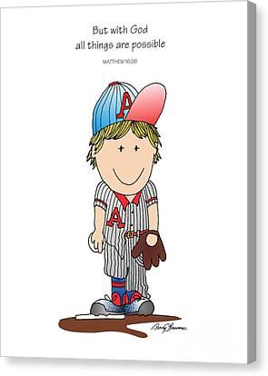 Baseball Canvas Print by Barry Louwerse