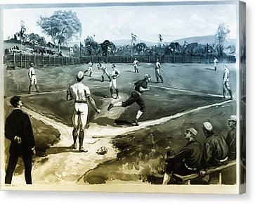 Baseball Canvas Print by Bill Cannon