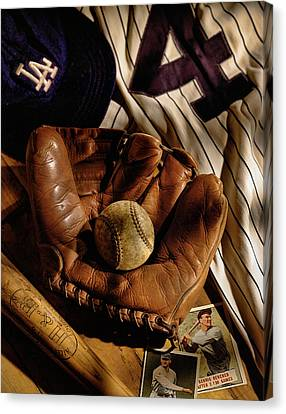 Baseball Canvas Print by Bob Nardi