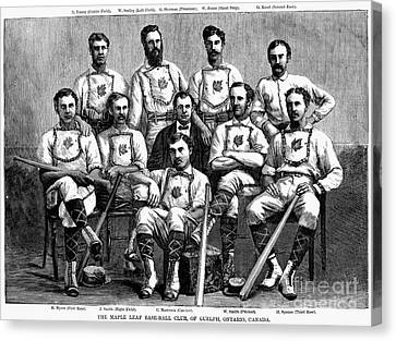 Baseball: Canada, 1874 Canvas Print by Granger