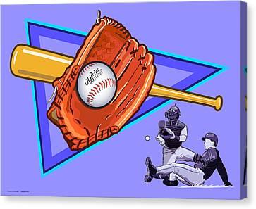 Baseball Canvas Print by Erasmo Hernandez