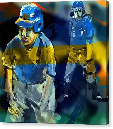 Baseball Stances  Canvas Print by James Thomas