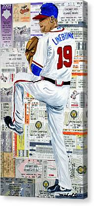Baseball Tickets Canvas Print by Michael Lee