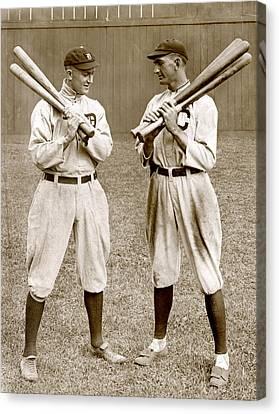 Baseball. Ty Cobb, Detroit Canvas Print by Everett
