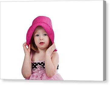 Canvas Print featuring the photograph Bashful Girl by Jim Boardman