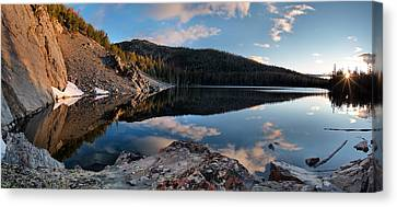 Basin Lake Sunrise Panoramic Canvas Print