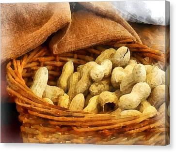 Basket Of Peanuts Canvas Print by Susan Savad