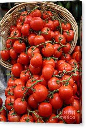 Basket Of Tomatoes - 5d17064 Canvas Print