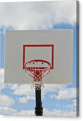 Basketball Backboard With Hoop And Net Canvas Print by Thom Gourley/Flatbread Images, LLC