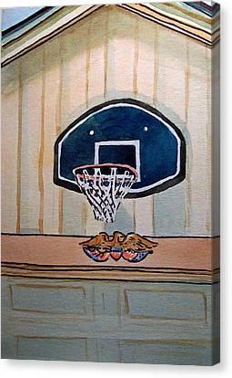 Basketball Hoop Sketchbook Project Down My Street Canvas Print by Irina Sztukowski
