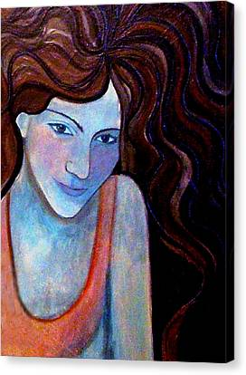 Canvas Print featuring the painting Basking-distorted by Monica Furlow
