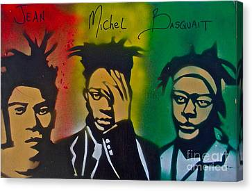 Basquait Me Myself And I Canvas Print by Tony B Conscious