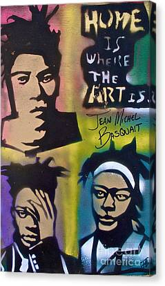 Basquait Squared Canvas Print by Tony B Conscious