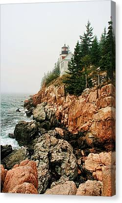 Bass Harbor Light Canvas Print by Mary Hershberger