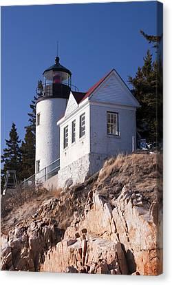 Bass Harbor Lighthouse Acadia National Park Canvas Print by Glenn Gordon