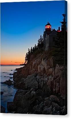 Bass Harbor Lighthouse Maine Canvas Print by Steve Gadomski