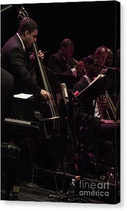 Bass Player Jams Jazz Canvas Print