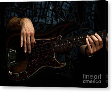 Bass Side Blues Canvas Print by Steven Digman