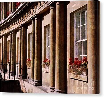 Canvas Print featuring the photograph Bath Royal Crescent by Deborah Smith