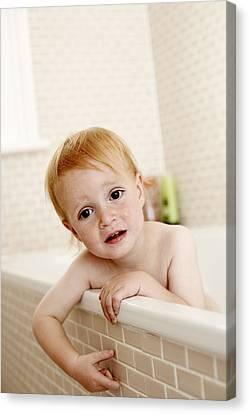 Bathing Child Canvas Print by Ian Boddy