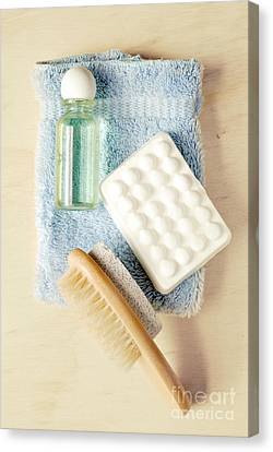 Bathroom Still Life Canvas Print by HD Connelly