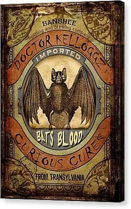 Bats Blood Canvas Print