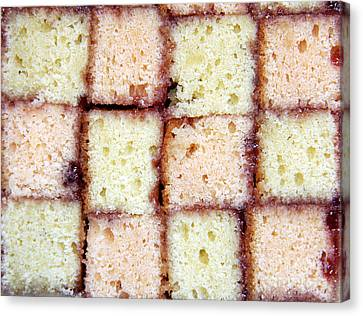 Battenburg Cake Canvas Print by Jane Rix