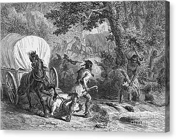 Battle Of Bloody Brook 1675 Canvas Print by Photo Researchers