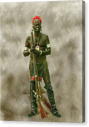 Battle Of Bushy Run Reenactor Portrait Canvas Print by Randy Steele