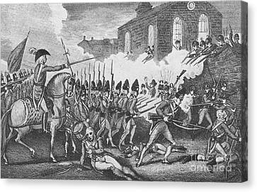 Battle Of Concord, 1775 Canvas Print by Photo Researchers