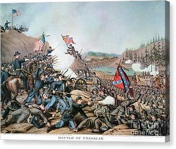 Battle Of Franklin, 1864 Canvas Print by Granger