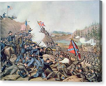 Franklin Tennessee Canvas Print - Battle Of Franklin November 30th 1864 by American School