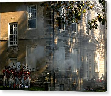 Canvas Print featuring the photograph Battle Of Germantown by Steven Richman