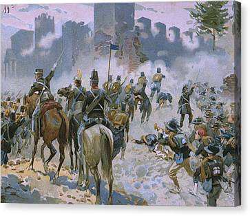 Battle Of Solferino And San Martino Canvas Print by Italian School