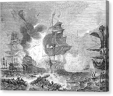 Lord Admiral Nelson Canvas Print - Battle Of The Nile, 1798 by Granger