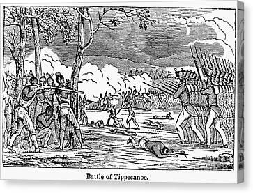 Battle Of Tippecanoe Canvas Print by Granger