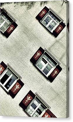 Bavarian Window Shutters Canvas Print by Joana Kruse