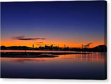 Bay Area Sunset Canvas Print by Richard Leon
