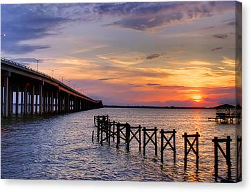 Bay St. Louis Sunset Canvas Print by Brian Wright